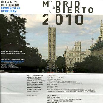 Susanne Bosch - Madrid Abierto - Magazine for public art events 2010