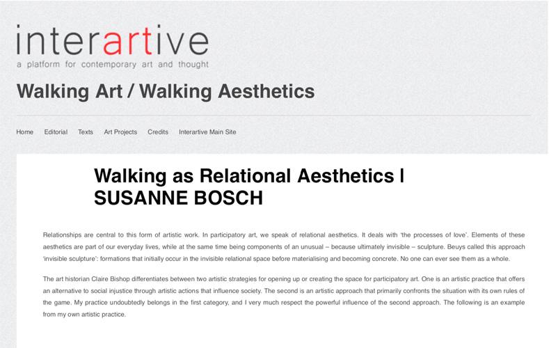 Susanne Bosch - Walking as Relational Aesthetics
